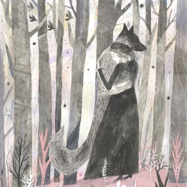 WOLF art print, The Company of Wolves A3 Print by Chris Hagan