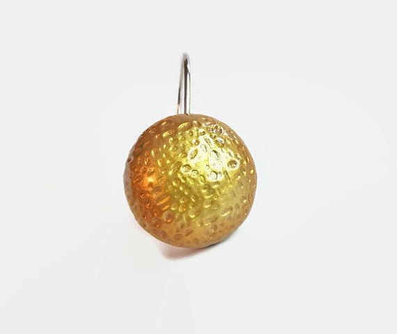Gold Shower Curtain Hooks Gold Bathroom by HooksWithAttitude