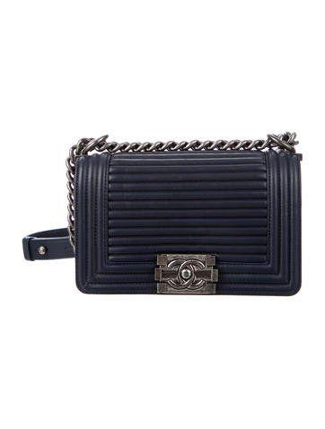 Chanel 2015 Horizontal Quilt Small Boy Bag