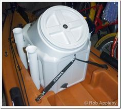 DIY Fishing kayak live well & dry box