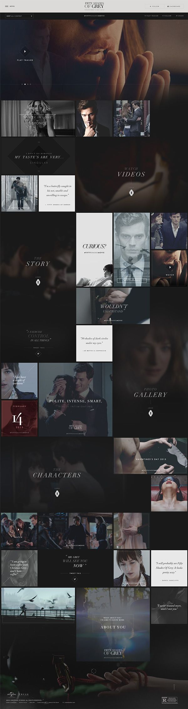 Fifty Shades of Grey - official site on Web Design Served