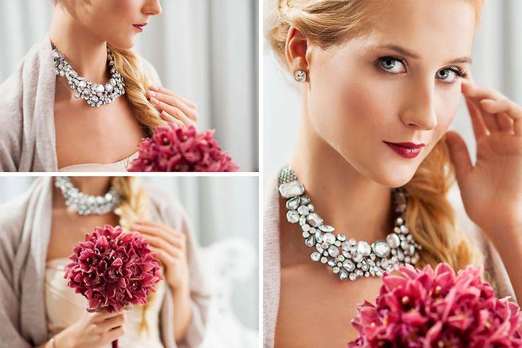 Production -  www.bemyvalentine.pl,  www.subobiektywna.pl Photographers - www.subobiektywna.pl, www.wedding-movies.pl  Bridal bouquet - Justyna Stachowska from www.projektkwiaty.pl  Make up - www.alicjamakeup.pl  Hair stylist - Xanledra Aleksandra Czerwińska Accessories - www.weddingart.com.pl  Model - Karolina Górak  Dress - Vera Wang from www.sukniemarzen.pl #verawang #marsala #bride #pannamloda #crystals #bouquet
