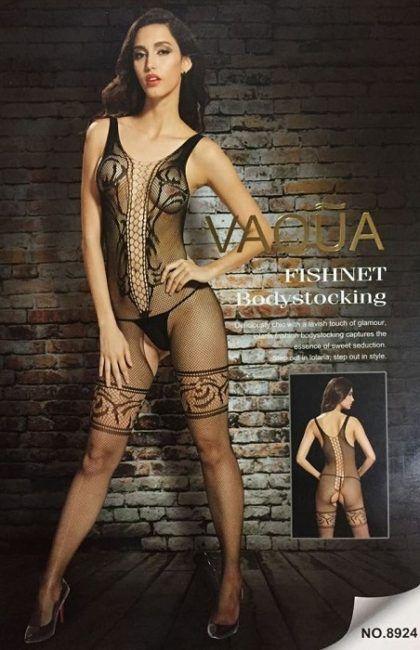 8d5d37e27a New Black Crotchless Fish Net Body Stocking Bodysuit Lingerie Nightwear