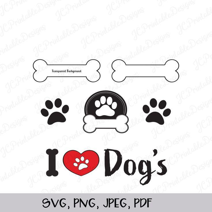 Download I Love Dogs SVG, Bones SVG, Dog Paw SVG, Dog Bundle, Dog ...