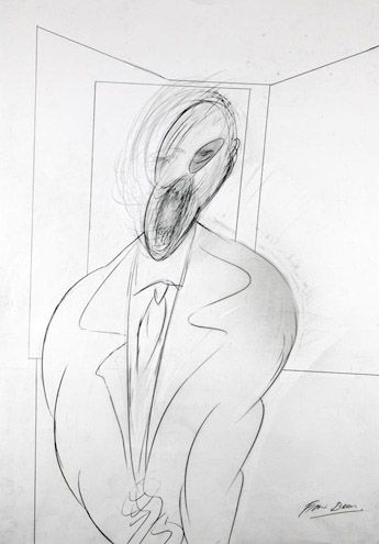 Francis Bacon drawing francisbaconitaliandrawings.com