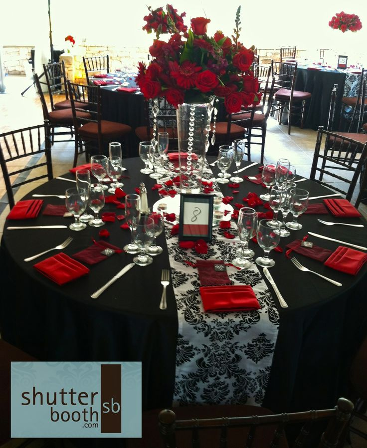 ShutterBooth San Diego Wedding Modern Elegance Red White And Black Wedding Colours