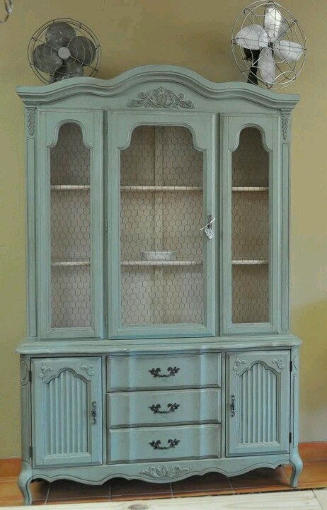 I really like this look!  - Updated FP china cabinet.