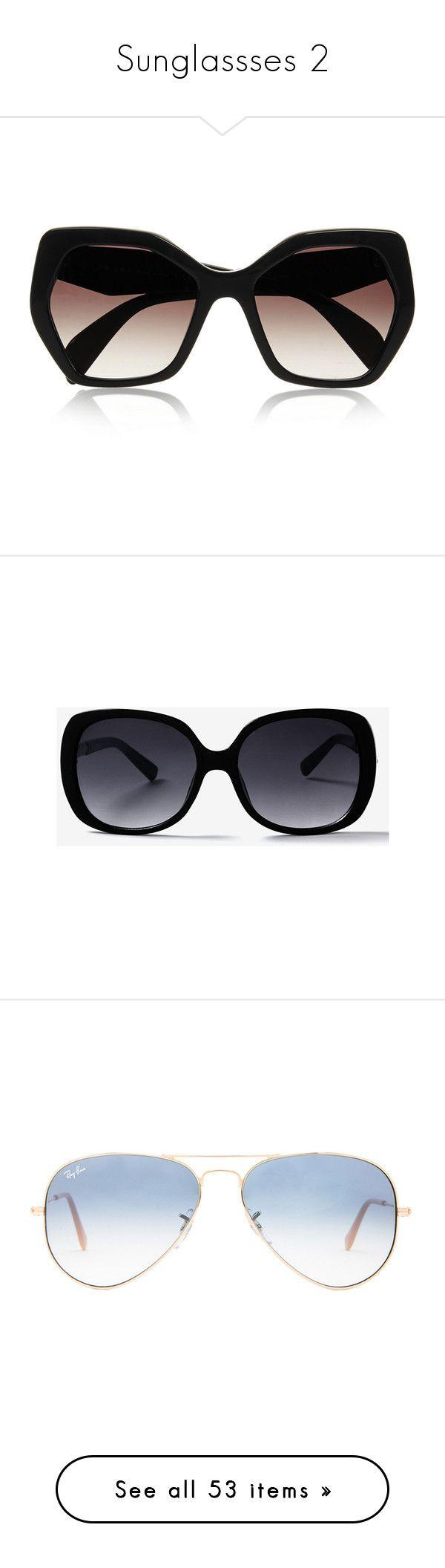 """Sunglassses 2"" by musicmelody1 ❤ liked on Polyvore featuring accessories, eyewear, sunglasses, glasses, prada, black, uv protection sunglasses, prada glasses, hexagon sunglasses and hexagon glasses"