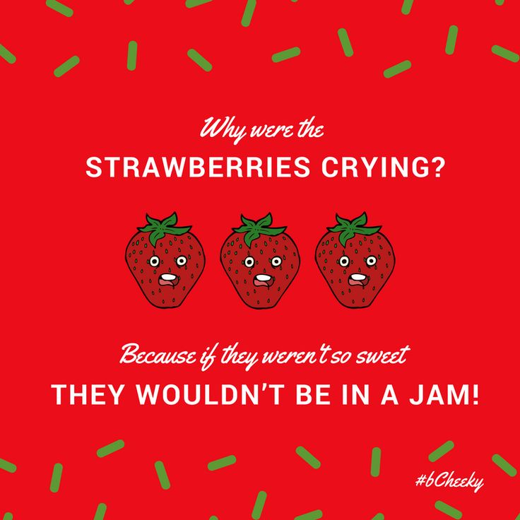 National Strawberry Day Funny Pun :) www.bCheekyApp.com