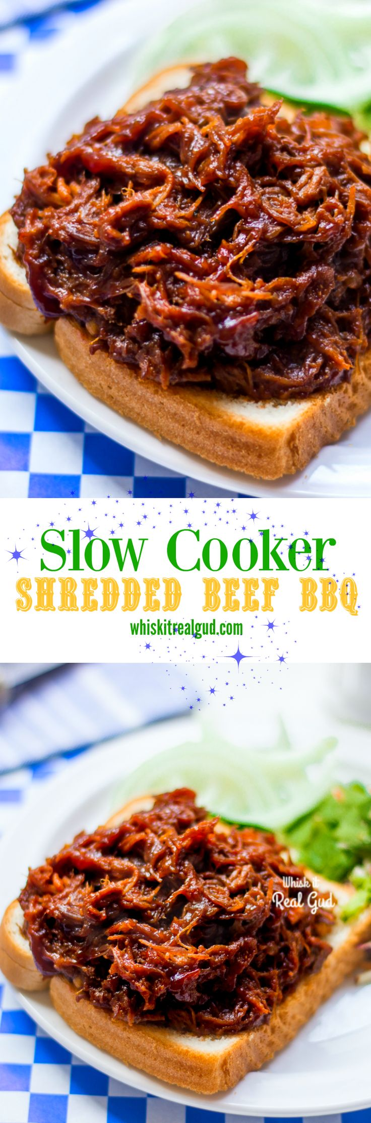 Rich, tender, juicy, saucy, tangy, flavorful and easy Slow Cooker Beef BBQ Sandwich!