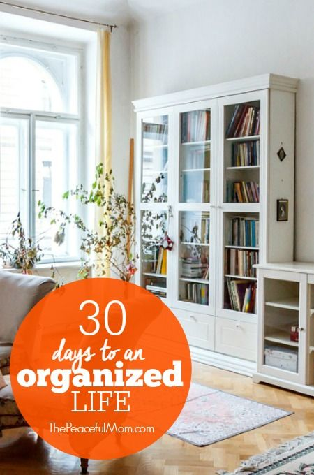 Join our 30 Days to an Organized Life Challenge and receive a FREE ePlanner PLUS a chance to win $25 PayPal cash and 3 ebooks! -- from ThePeacefulMom.com