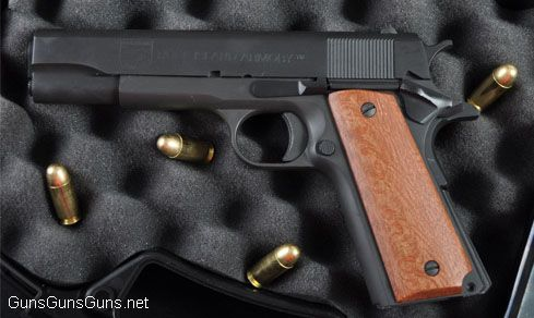 The Rock Island Armory 1911 GI. Actual retail is roughly $380–$489. Find our speedloader now!  http://www.amazon.com/shops/raeind