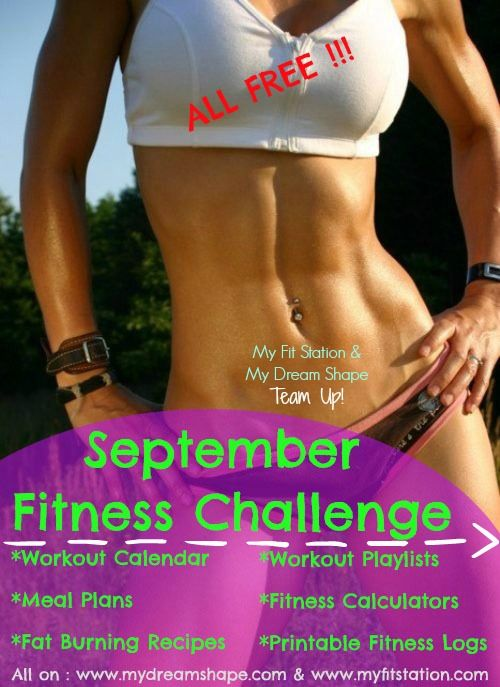 September fitness challenge : 30-day workout calendar ! The October Fitness Challenge is now up : http://www.mydreamshape.com/october-fitness-challenge
