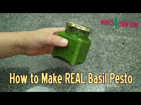 How to Make REAL Basil Pesto - Quick & Easy Basil Pesto Recipe - Homemad...