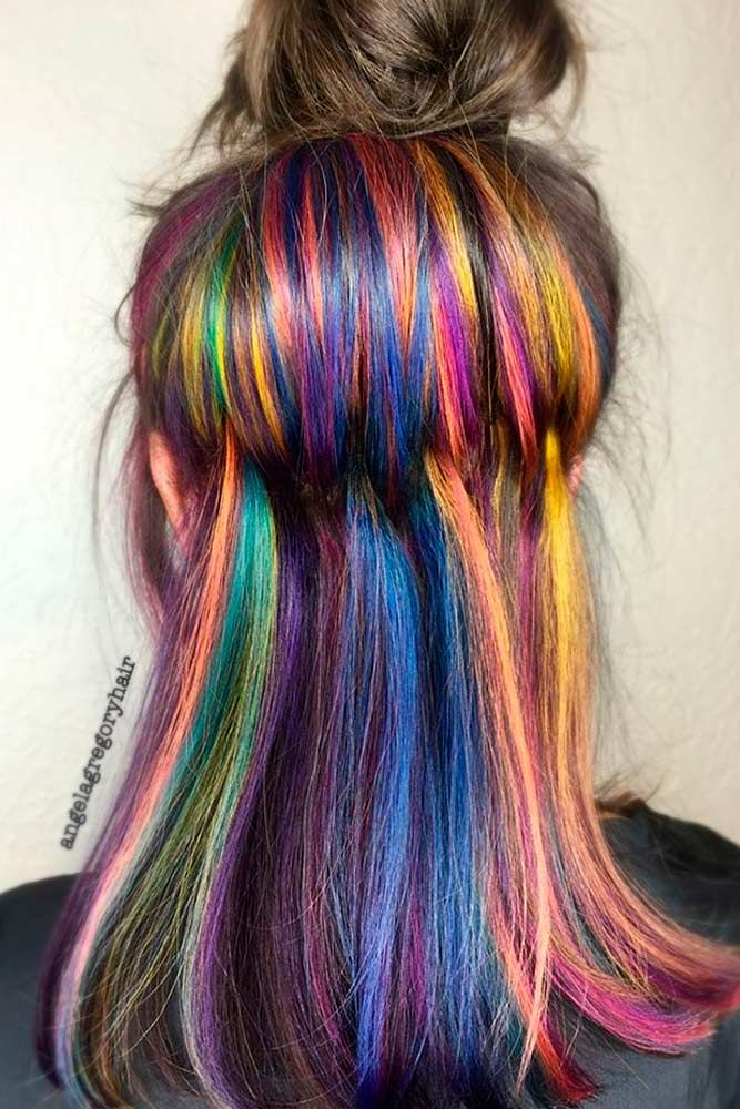 25+ best ideas about Rainbow Hair on Pinterest | Galaxy ...