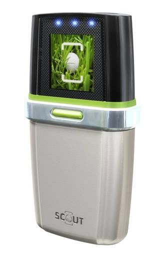 The Ballfinder Scout: an electronic device that can locate hard-to-find golf balls.The location is displayed on an LCD display, a vibro-buzz confirms successful ball location, and LED lights that point the direction.