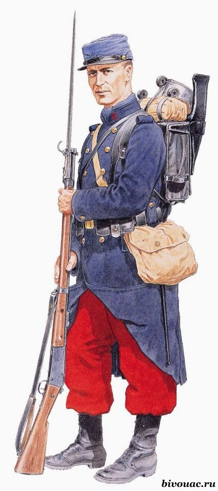 WW1. French Poilu 1914