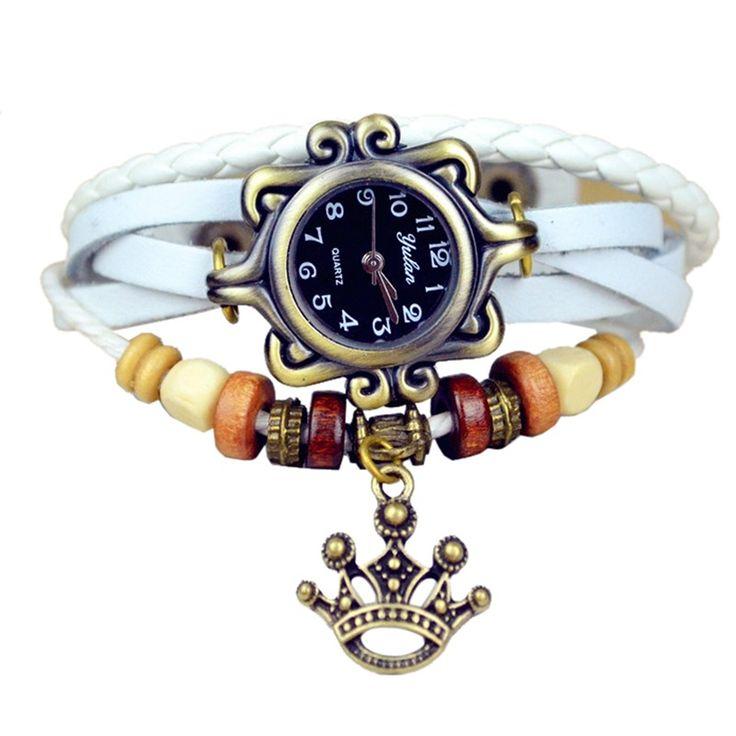 Часы женские с шармом корона
