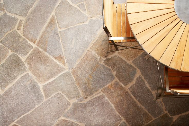 Eco Outdoor Porphyry crazy paving Outdoor Design | Natural stone flooring | Natural stone paving | Garden design | Outdoor paving | Outdoor design inspiration | Outdoor style | Outdoor ideas | Luxury homes | Paving ideas | Garden ideas | Floor tiles | Stone veneer | stone walling | Porphyry | crazy paving