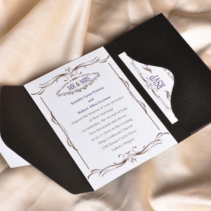 pocket wedding invites australia%0A Elegant Royal Wedding Invitations