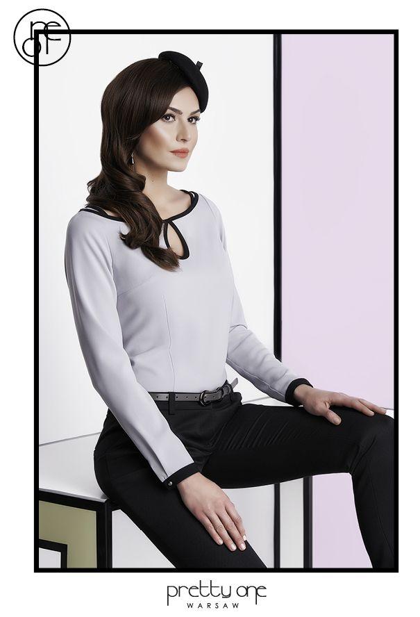 #lookbook #prettyonewarsaw Spring Summer 2015 Dzianinowy sweterek, z lamówką i wykończeniem w łezkę, oczek, ozdoba do włosów, czarne cygaretki.