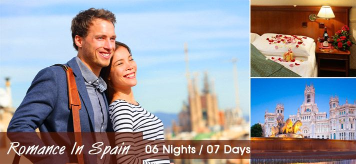 #SpainHoneymoonPackages  #HoneymooninSpain  #SpainTours Book 06 Nights / 07 Days #HoneymoonPackages for Spain 2015 from Delhi India with all inclusive resorts, hotels and cover all romantic destinations, sightseeing and most romantic places in Spain.