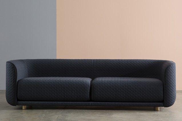 Cult's Fat Tulip three-seater sofa is designed by Australian designer Adam Goodrum.