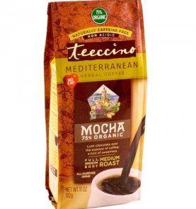 Teeccino Mediterranean Herbal Coffee Mocha - 11 oz - http://thecoffeepod.biz/teeccino-mediterranean-herbal-coffee-mocha-11-oz/