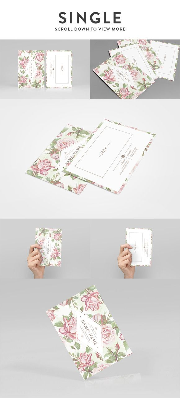 Card Mockup ; Single & Bi-fold by Faridz Design Suite on Creative Market