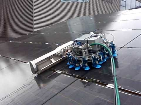 Gekko Robot Cleaning Solar Panels The Gekko Iii Junior