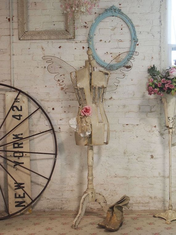 Painted Cottage Chic Shabby Angel Dress Form by paintedcottages, $495.00