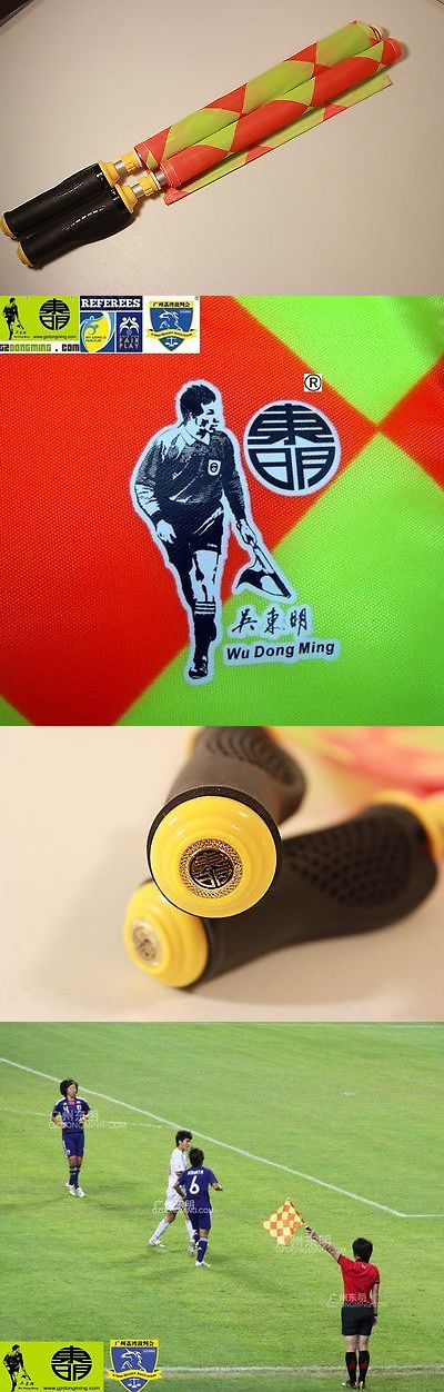 Other Soccer 2914: Dong Ming Premium Soccer Football Referee Flags W Rubber Handles -> BUY IT NOW ONLY: $40 on eBay!