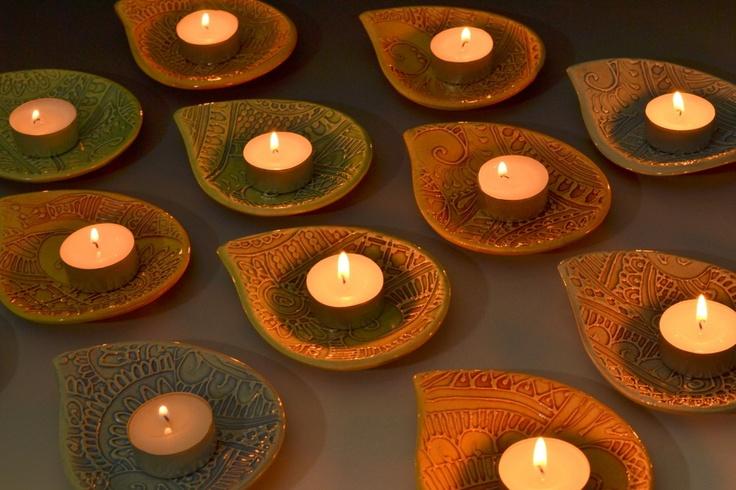 Diwali Diyas Tealight Holders in Green
