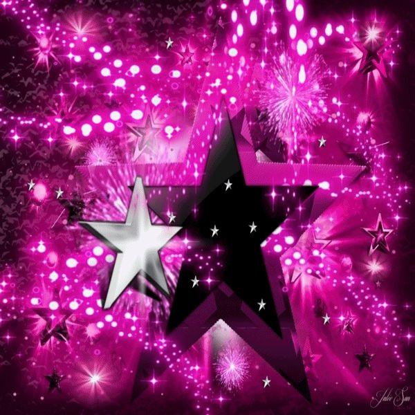 Pink And Black Crazy Star Animated Gif by JSSanDA on DeviantArt