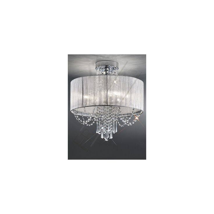 Franklite Lighting Empress 6 Light Semi Flush Crystal Pendant From The Home Centre Uk