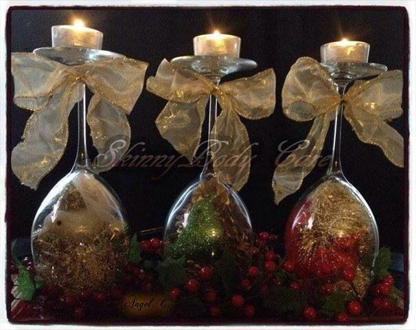 Wine glass centerpieces it s beginning to look a lot