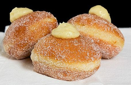 Ricotta Doughnuts with Lemon Cream Dipping Sauce .....  Gonna need to run 2 miles after these!  but YUM!
