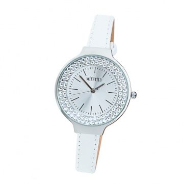 Фото Белые часы co Swarovski Elements Crystal