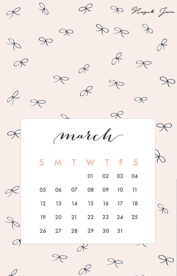 Calendar Wallpaper Phone : March free calendar printables by nazuk jain