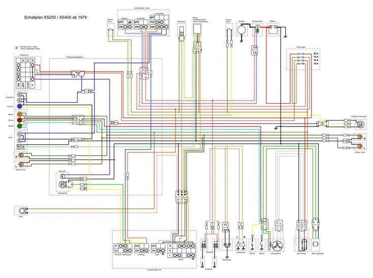 daaec0aa7b54623b4670d3cdb1c0d651 jpg image 17 best motorcycle wiring diagrams images on pinterest yamaha xs 400 wiring diagram at gsmx.co