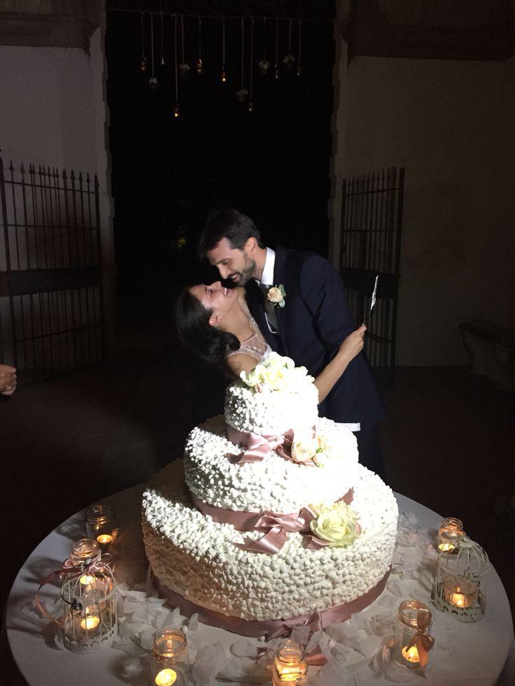 1 agosto 2015 Matteo e Martina, wedding planner, cake, torta nuziale, bride groom sposi, pink, shabby chic, cage, tea light, WEDDING CAKE
