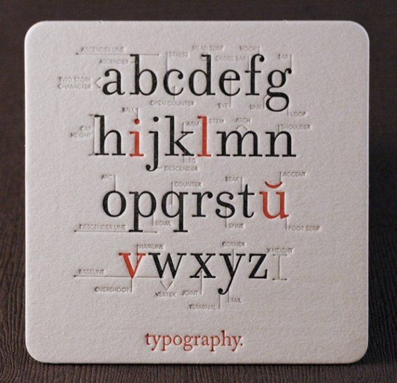 Typography Coaster. #letterpress #typography #design