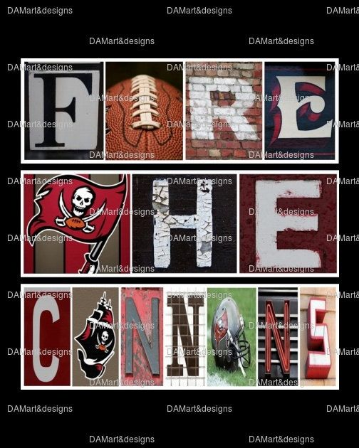 Tampa Bay Buccaneers Framed Alphabet Photo Art by DAMartndesign, $39.00