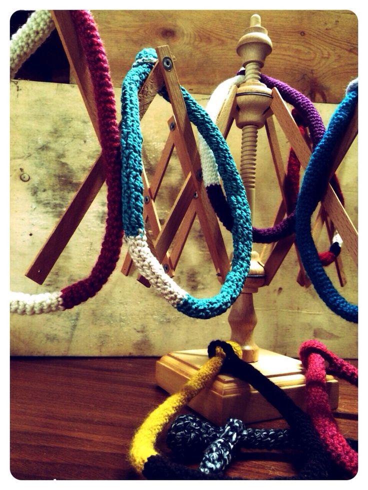 @iladony necklace #Neckcord cotton wool crochet #fattoamano handmade monica@pairone.it