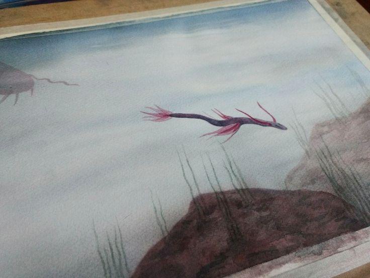 En paralelo al de las flores   #topopanda #illustration #ilustración #ilustracion #watercolorpaiting #watercolor #acuarela