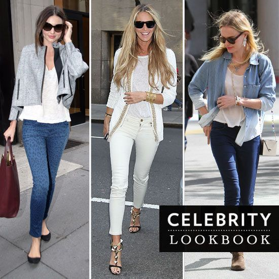 Must Try Celebrity Jean Styles : Printed, Colored, Cropped and Flared.