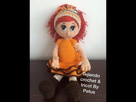 Paso a paso Vestido muñeca parte 1 técnica amigurumi - YouTube