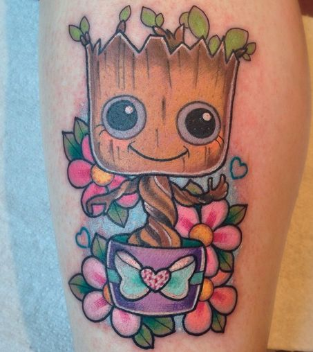 baby groot tattoo google search tattoos pinterest more tattoo and tatting ideas. Black Bedroom Furniture Sets. Home Design Ideas