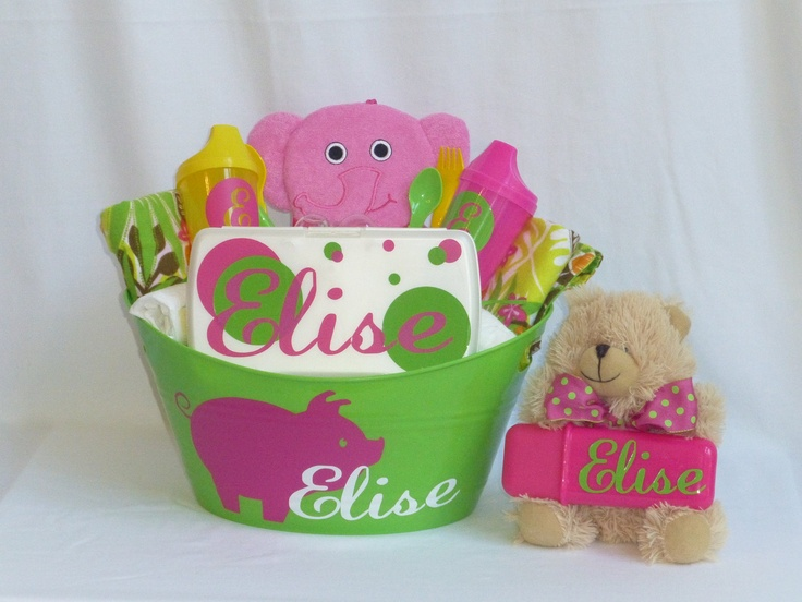 Baby Gift Baskets Nordstrom : Baby shower gifts personalized girl gift basket for