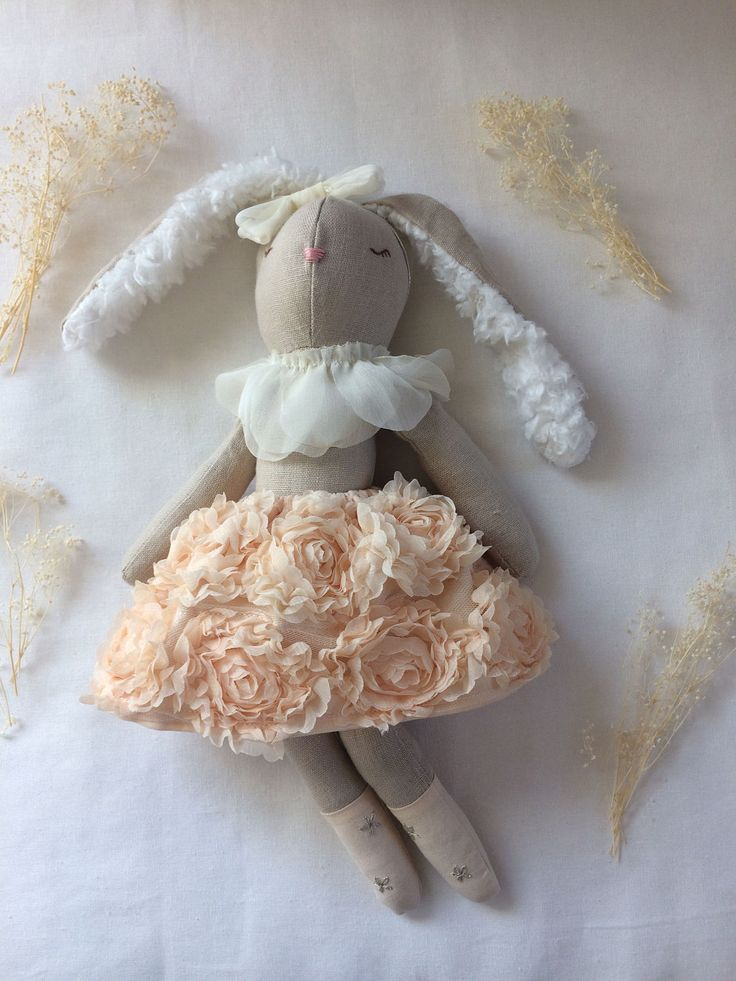 Bunny rag doll, Cotton tail doll, easter doll, Ready to ship rag doll, Fall rag doll, child friendly rag doll, Ooak rag doll by yenistitches on Etsy